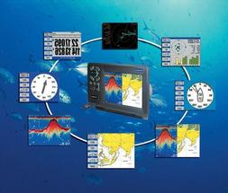 "12"" TFT Color LCD Display Marine GPS Chart Plotter combo Fis"