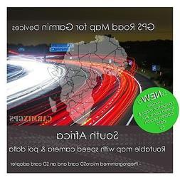 2018 South Africa City Road Maps - microSD-SD Card for Garmi