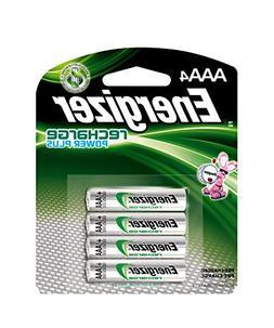 Energizer Rechargeable AAA Batteries, NiMH, 800 mAh, Pre-Cha