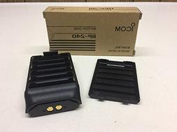 Icom Alkaline Battery Case BP-240 Black Holds 6 AA Batteries