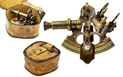 Brass Nautical - Sextant Brass Navigation Instrument Sextant