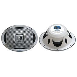 Lanzar 6x9 Inch Marine Speakers - 2 Way Water Resistant Audi