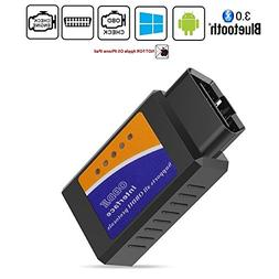 Friencity Bluetooth Car OBD ii 2 OBD2 Scanner Adapter, Vehic