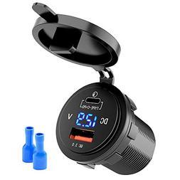 36W Fast USB C Car Charger - MNJ Motor Typec C QC3.0+ PD Cha