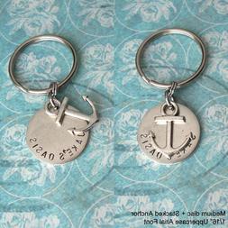 GPS Coordinates Latitude Longitude Keychain . Custom engrave