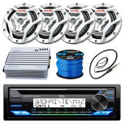 "JVC KDR97MBS Marine CD Player, 2x 300-W 6.5"" Speaker, Amplif"