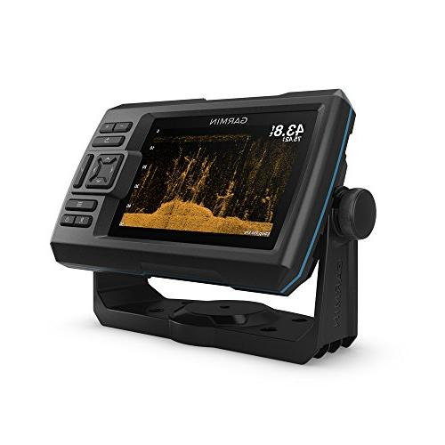 "Garmin Plus with 5"" Fishfinder with CHIRP and Transducer Quickdraw Contours Software"