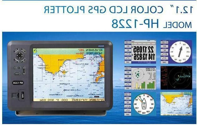 12 color lcd marine boat gps chart