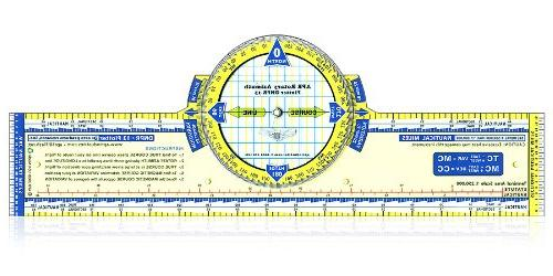 13 Deluxe Color Azimuth Compass Rose Navigation Plotter by A