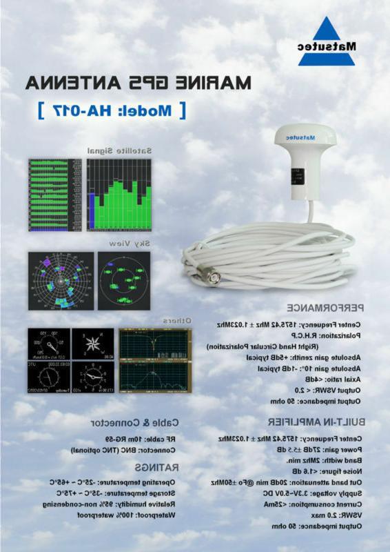 Matsutec 5 of GPS Antenna Marine Gps antenna with meter