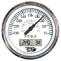 "Faria Chesapeake White SS 4"" Speedometer - 80MPH"