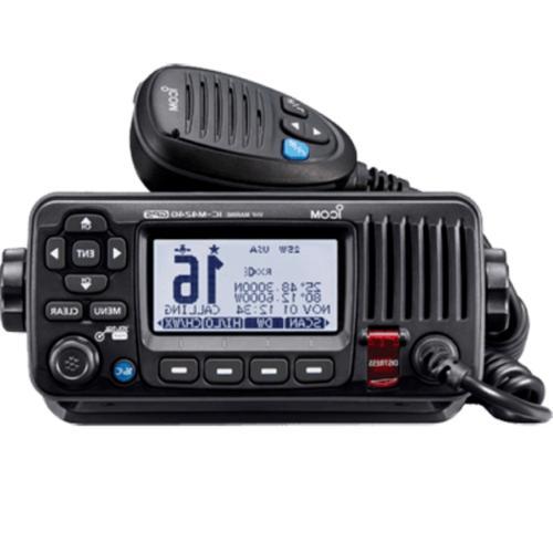 ICOM IC-M324G 21 Marine VHF Radio, with GPS, Black