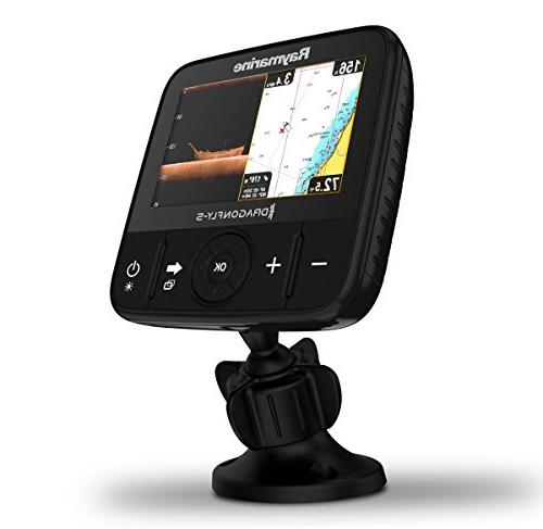Raymarine Fish with in WiFi with Navionics+ Charts Transducer