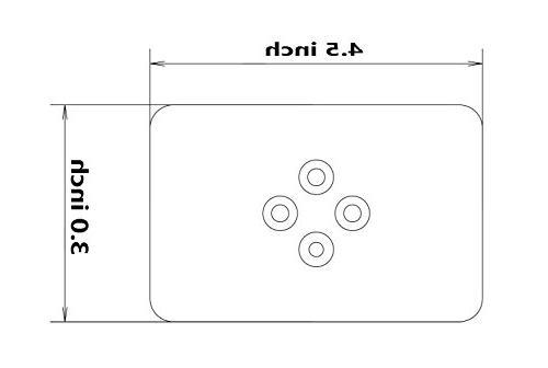 BroCraft Boat T-TOP Antenna Plate Bracket