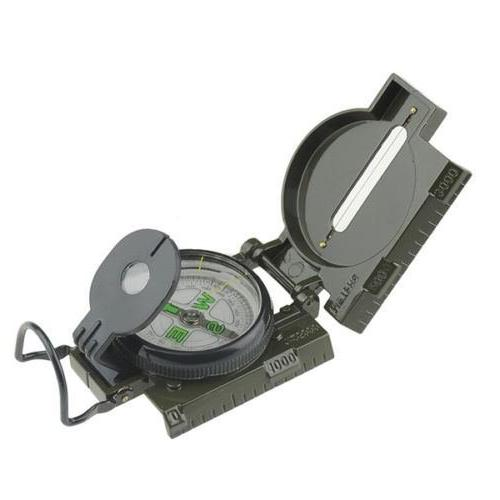 classic military hiking camping lensatic