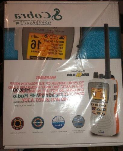 Cobra GPS VHF Radio w/Bluetooth - White