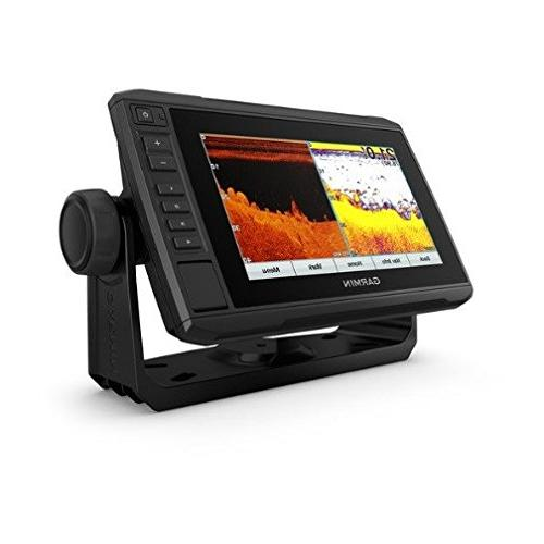 """Garmin ECHOMAP with Transducer, 7"""" Assist with ClearVu Scanning Sonar and"""