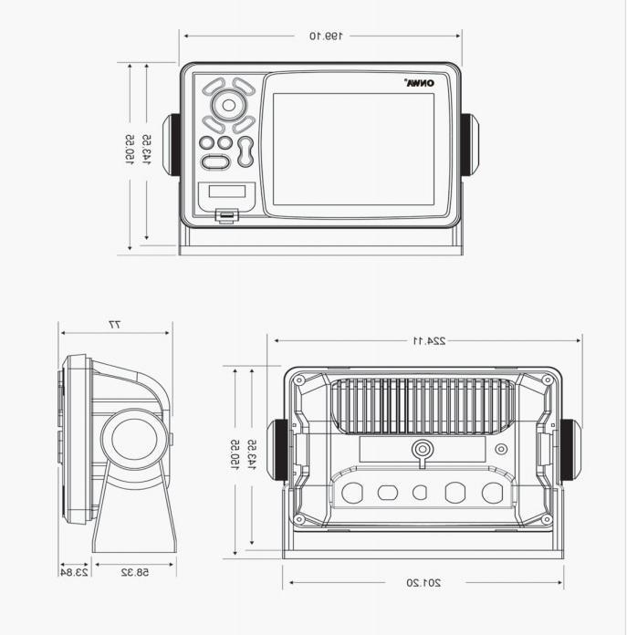 LCD Transponder Combo High <font><b>Marine</b></font> <font><b>GPS</b></font> Navigator