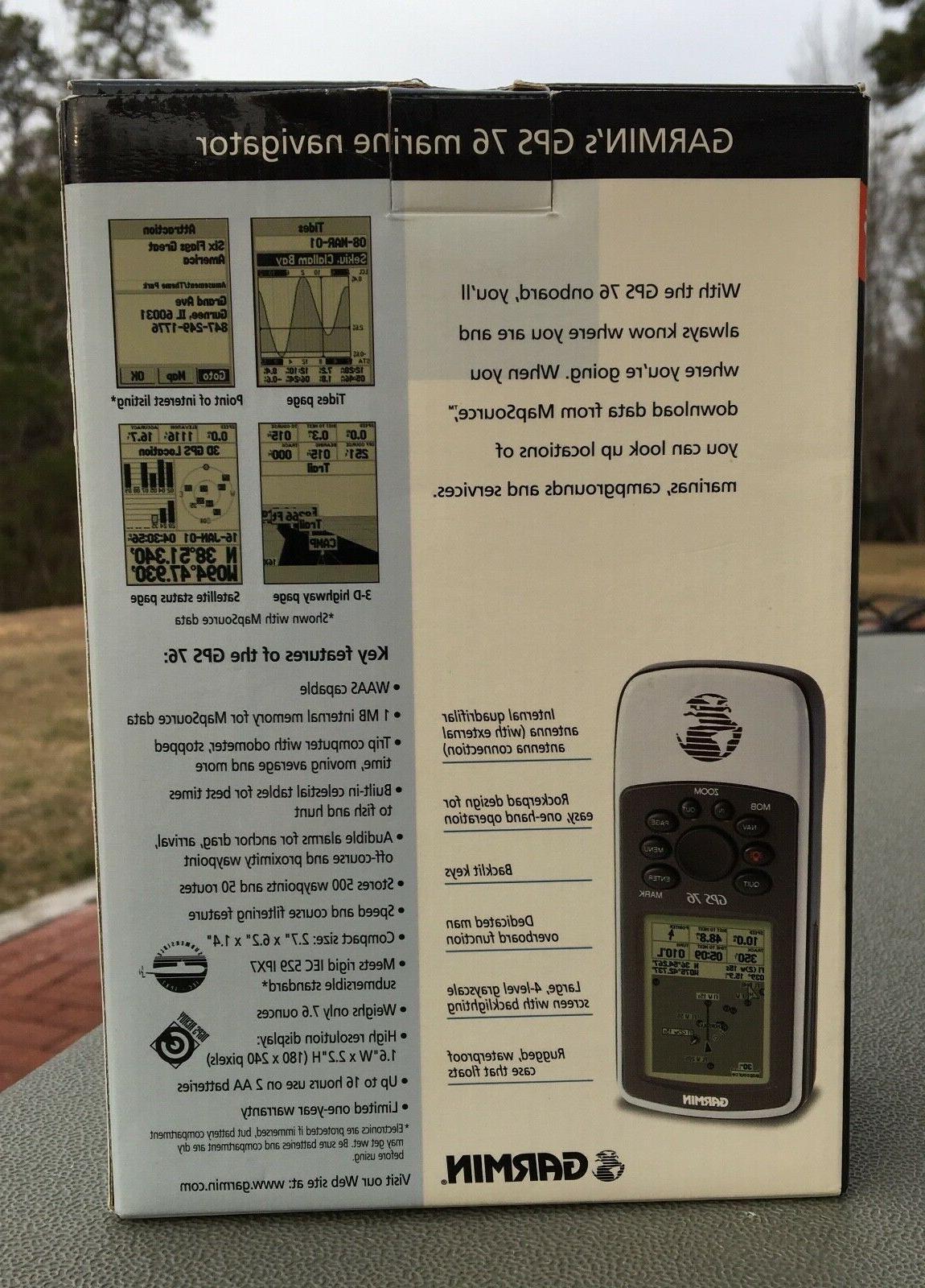 Garmin GPS 76 Marine Receiver WAAS Unit
