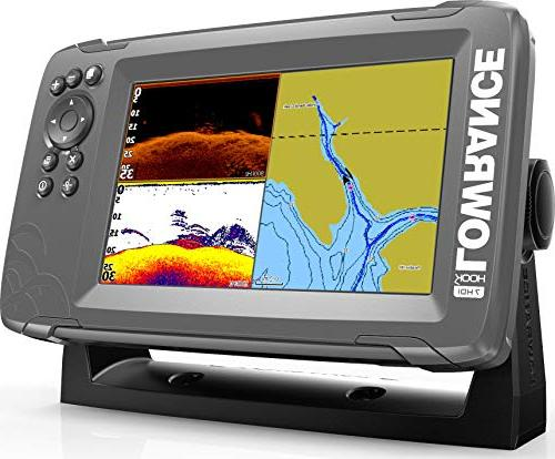 Lowrance HOOK2 7 7-inch Finder with SplitShot Transducer US Inland Lake …