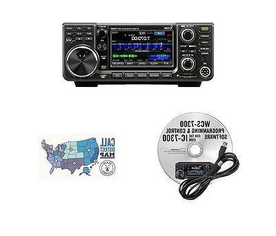 Icom IC-7300 HF/50MHz 100W Base Radio w/ RT Systems Programm