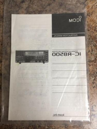 ICOM Opened / Never Used Booklets.