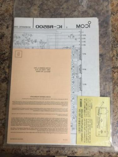 ICOM Never / Used Brand New Original Booklets.