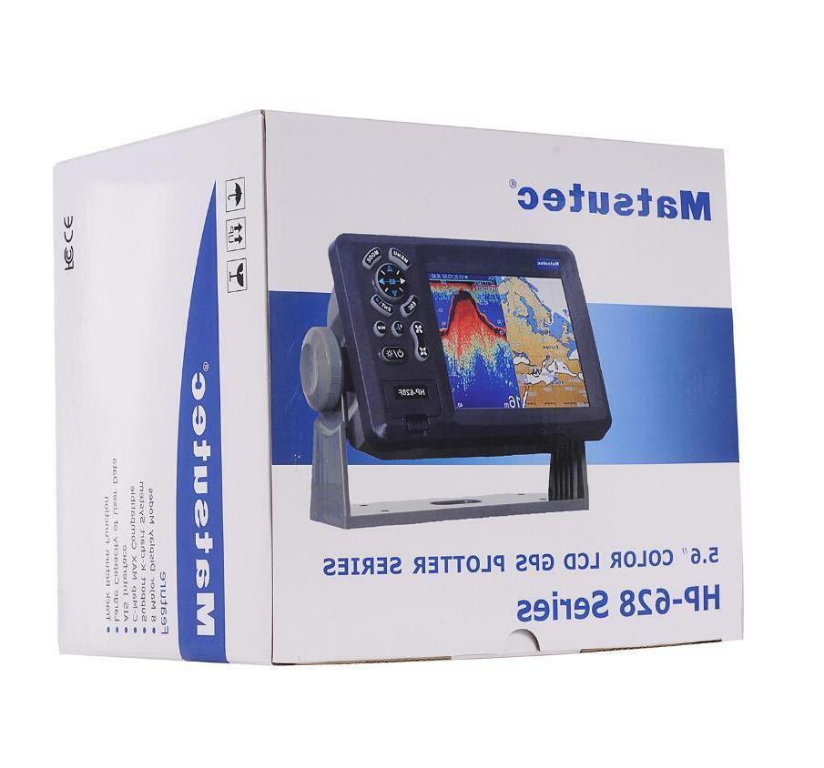"5.7"" Color LCD Marine GPS Chart Plotter GPS Navigator Work w"