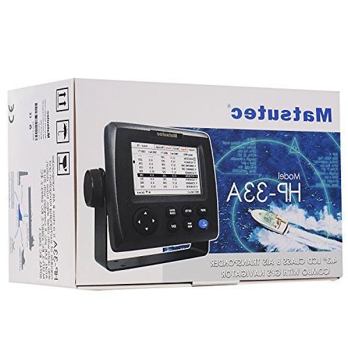 """Matsutec HP-33A 4.3"""" Color LCD Transponder Combo GPS"""