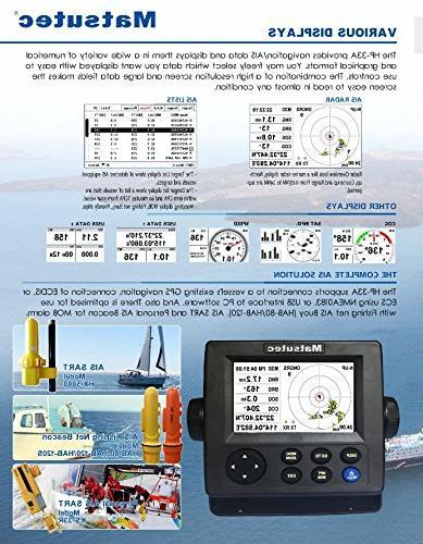 "Matsutec HP-33A 4.3"" Color LCD Transponder Combo High Marine GPS Navigator"