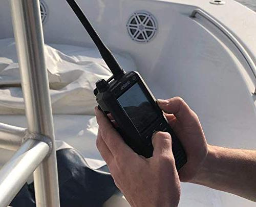 Uniden MHS335BT Class D Floating VHF Marine with Bluetooth, Text Directly Other VHF Capable Radios, Submersible Design
