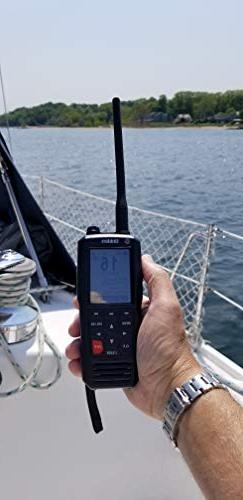 Uniden 6W D Handheld VHF Marine Radio Text Message Directly Other VHF Message Capable Design