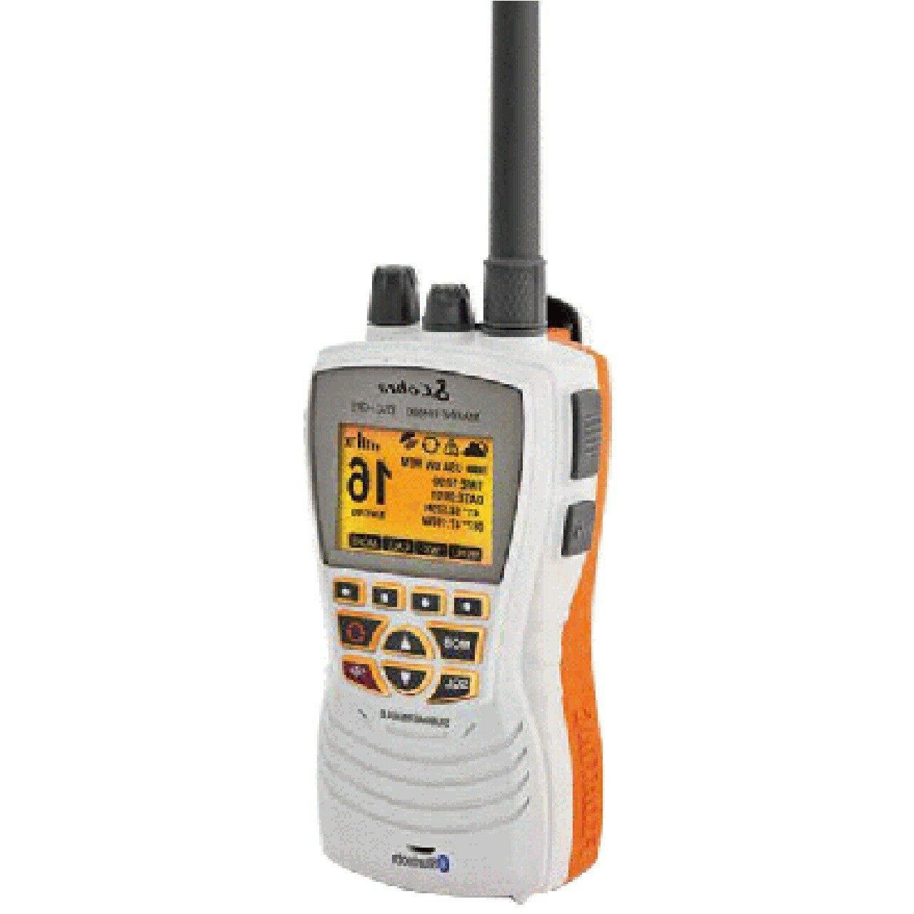 Cobra MR HH600W Floating GPS VHF Radio w-Bluetooth - White *