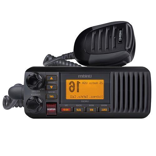 um385bk 25 watt fixed mount marine radio
