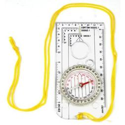 Magnifying Compass Army Scouts Hiking Camping Boating Map Re