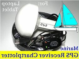 Marine Laptop GPS Receiver + Antenna Google Earth Cmap Garmi