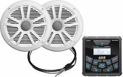 "Boss MCKGB450W.6 Marine Radio, White 6.5"" Speakers, Ant."