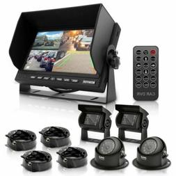 """Multi-Camera Monitor Video System Kit - 7"""" Quad View LCD D"""