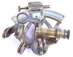 Neovivid Solid Brass Sextant Nautical Maritime Astrolabe Mar