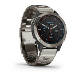 Garmin Quatix 6 Titanium Marine GPS Smartwatch Gray with Tit