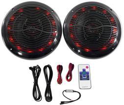 Rockville Rmc80lb 8 Inch 800W 2-Way Black Marine Speakers W