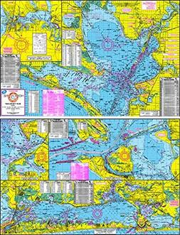 Topographical Boat Fishing Map of Galveston Bay - With GPS H