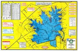 Topographical Fishing Map of Fayette County Lake - With GPS