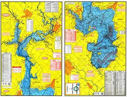 Topographical Fishing Map of Lake Livingston - With GPS Hots