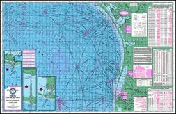 Topographical Fishing Map of the Lower Gulf of Mexico - With