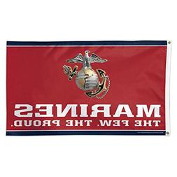 WinCraft United States Military Marines Deluxe Flag, One Siz