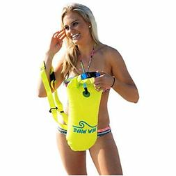 Yellow New Wave Open Water Swim Buoy Inflatable PVC Drybag F